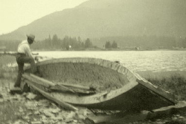 Kelsey Bay Canoe At Salmon River June 1911 Photo BC Archives